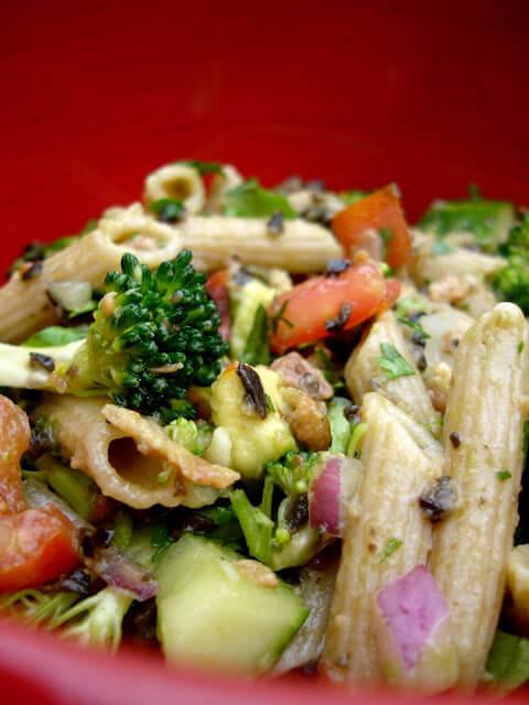 Chicken Avocado and Bacon Pasta Salad