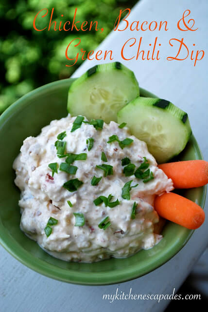 Chicken, Bacon & Green Chili Dip