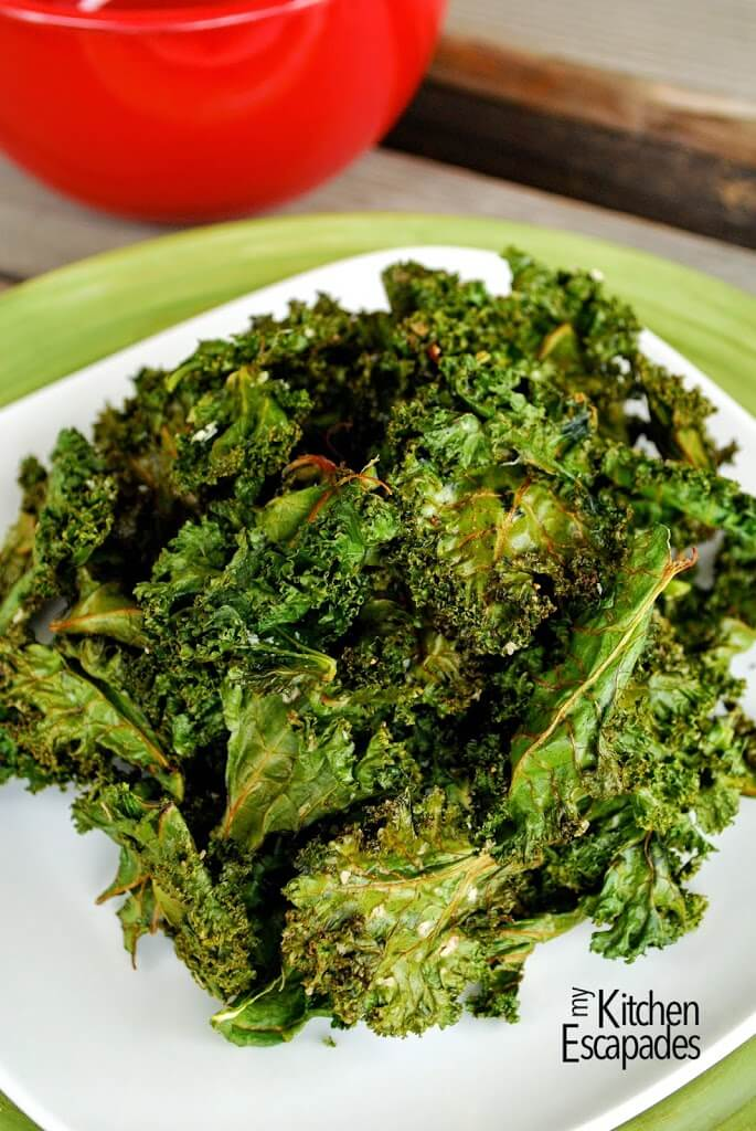 Kale Chips Recipe with 7 Seasoning Flavors
