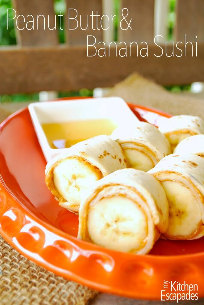 Peanut Butter and Banana Sushi