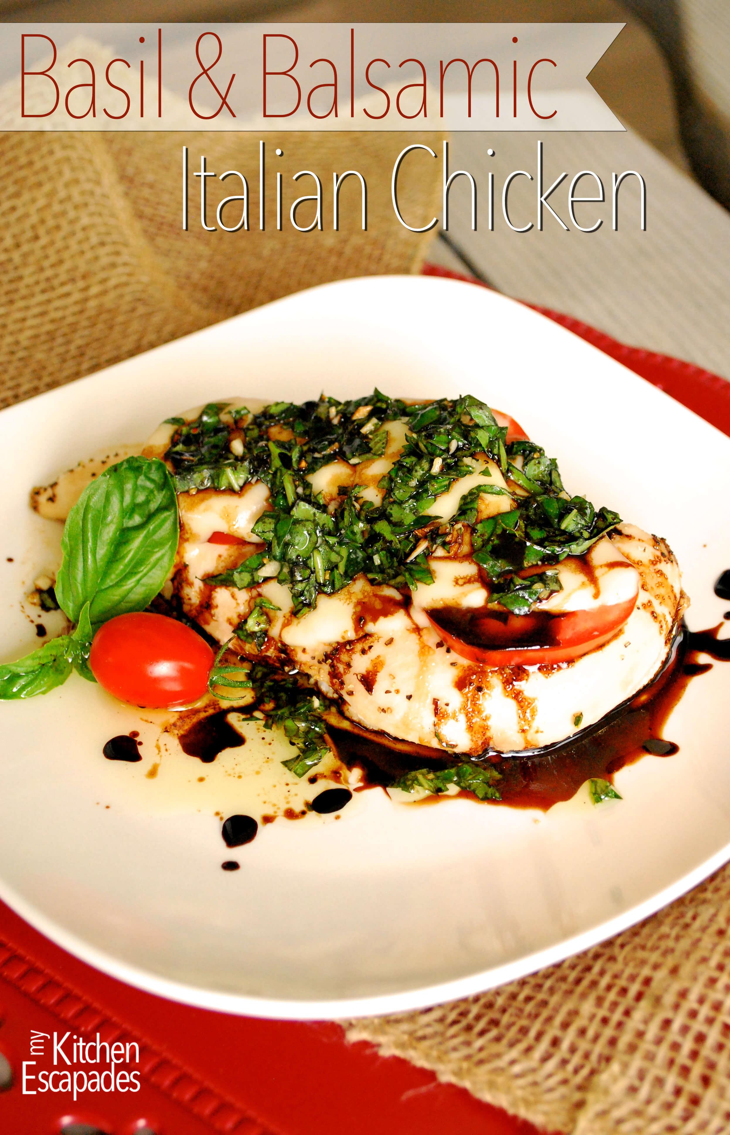 Basil and Balsamic Italian Chicken