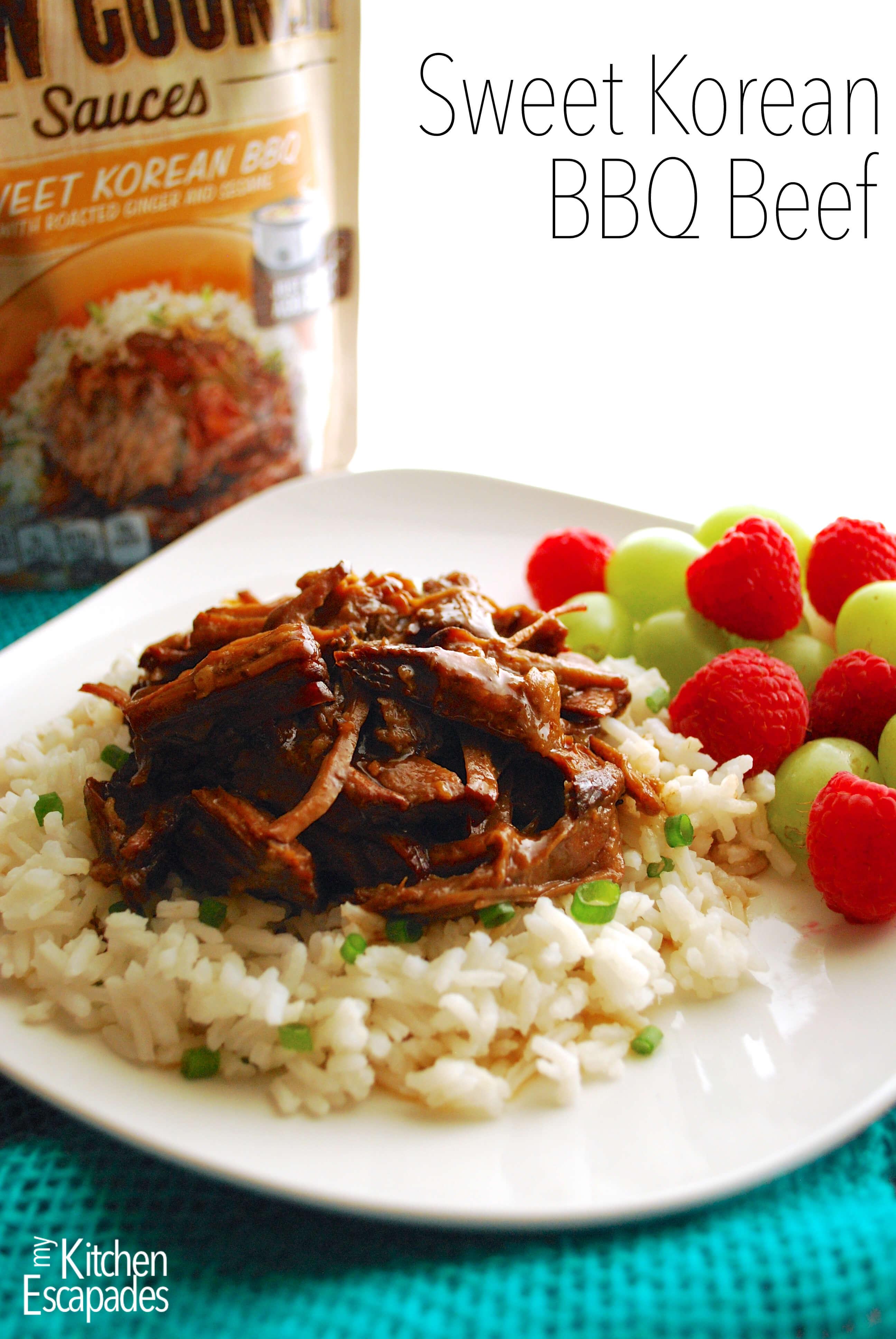 Sweet Korean BBQ Beef