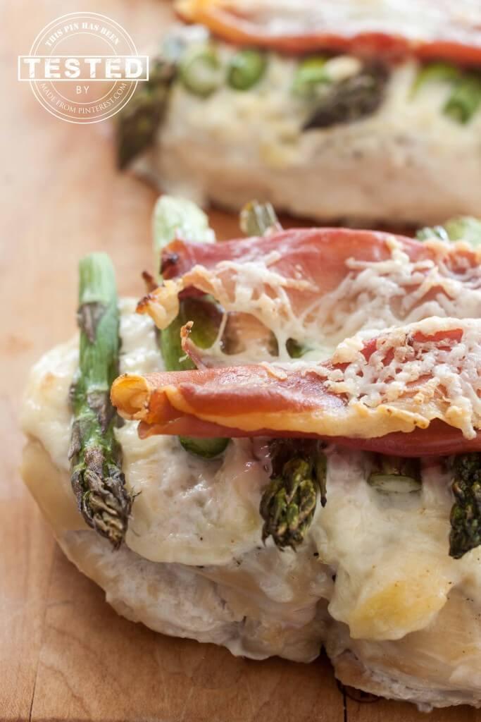 Artichoke Asparagus & Asiago Chicken Bake