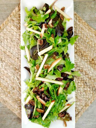 Autumn Apple Salad Recipe with Candied Pecans
