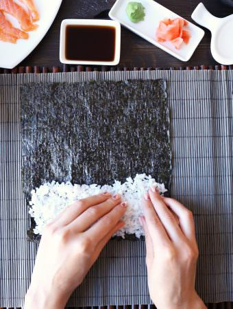 Homemade sushi rice recipe
