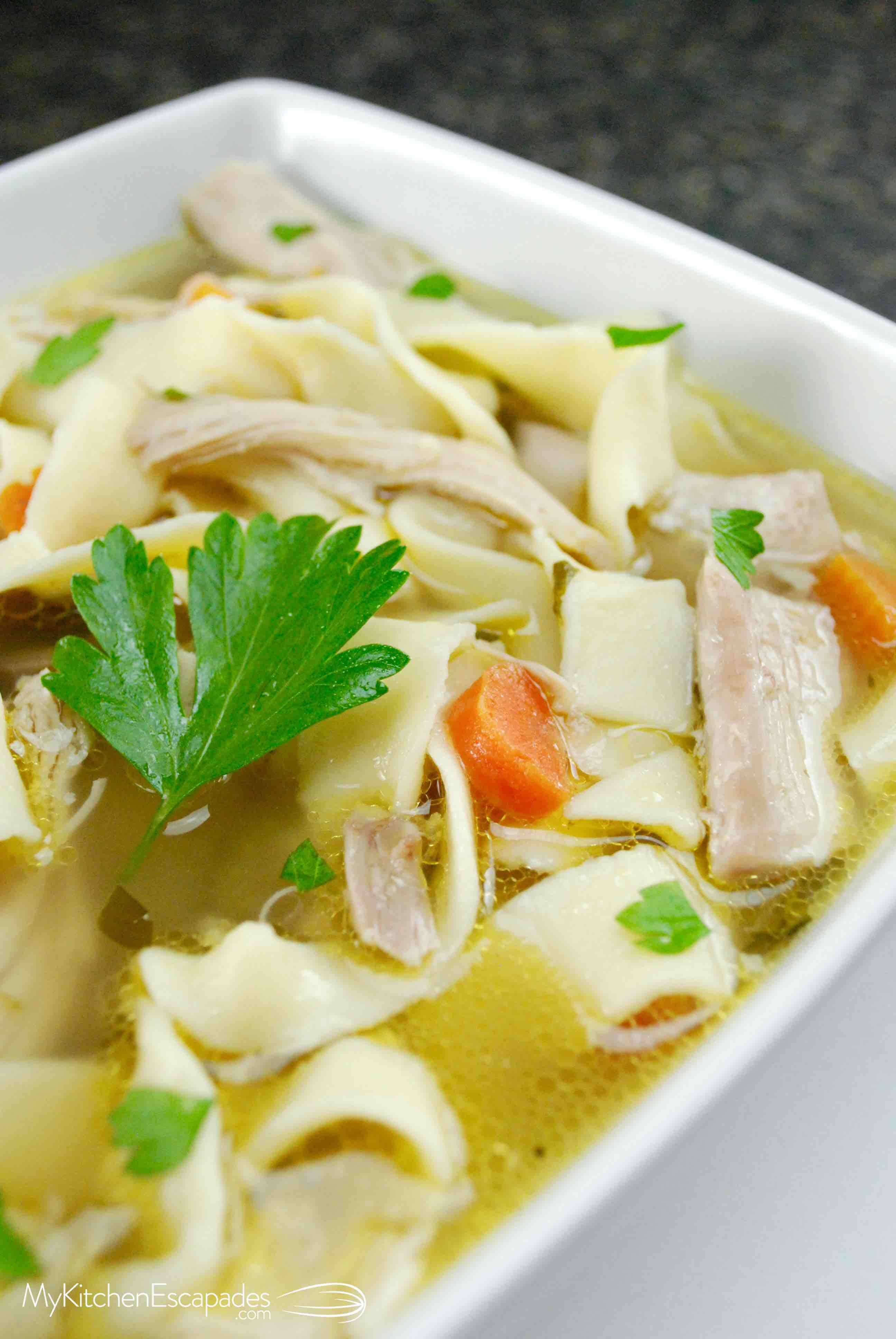 Homemade Chicken Noodle Soup With Homemade Noodles