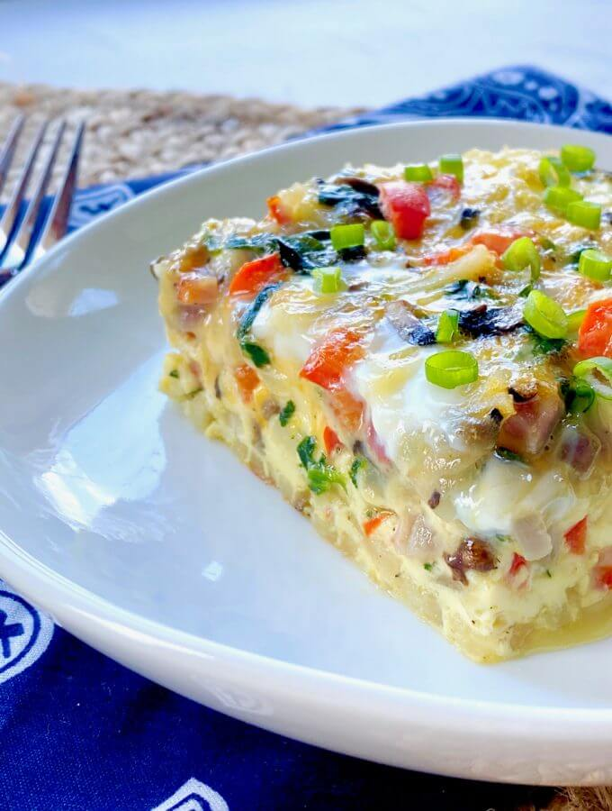Egg Bake with Hash Browns | Breakfast Casserole with Ham | VIDEO