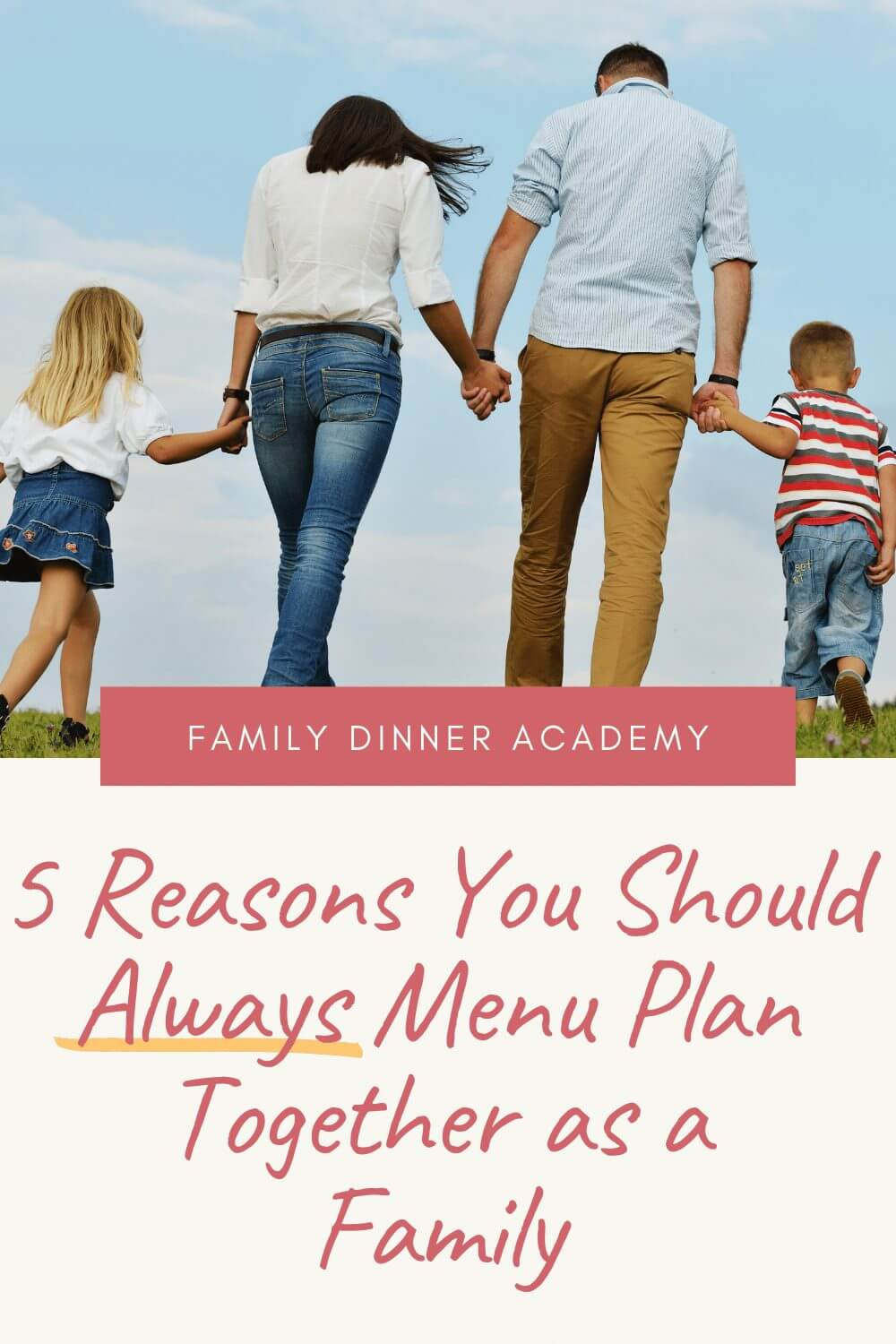 menu planning together as a family