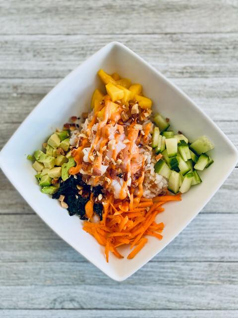 Mango Shrimp Sushi Bowl Recipe